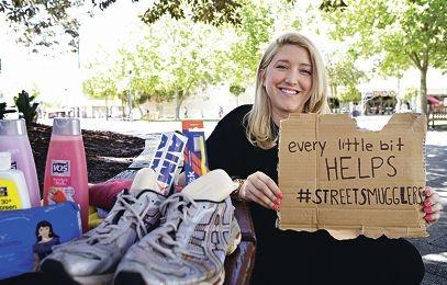 Delivering dignity: Street Smugglers co-founder Sandra De Witt Hemala. Picture: Elle Borgward www.communitypix.com.au d427547