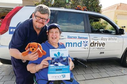 Siblings Mark and Moira Laurence are on the road as part of the 2014 Motor Neurone Disease Drive for the MND Association of WA.