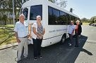 From Left: Colin Lindsay, Julie Otremba, Ross Brewer, Margot du Boulay. Yanchep Two Rocks Community bus celebrates 25 years