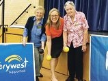 Sylvia Sangster, Janine Freeman and Joan Southern.