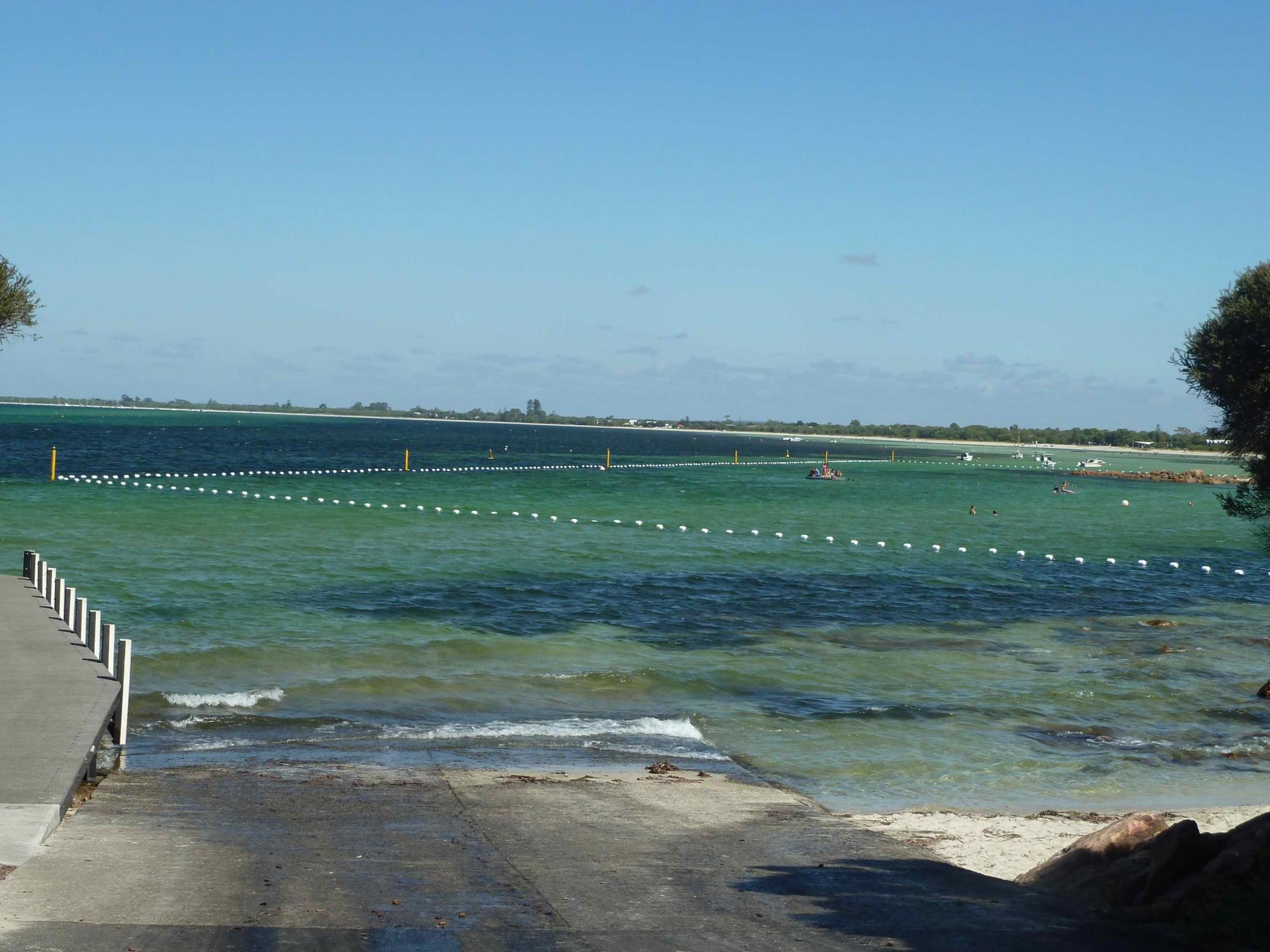 Shark nets in use