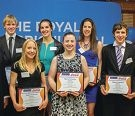 Natasha Verazzi (second from right) with other scholarship winners.