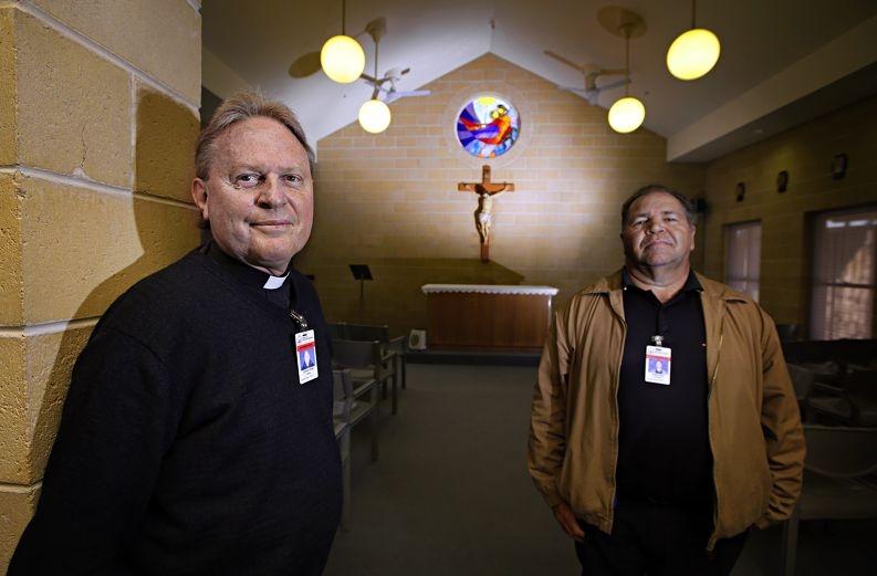Casuarina Prison chaplains Graham Wright and Robert Jetta. Picture: Elle Borgward d426408