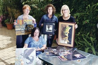 Artists Lynne Mettam, Roslyn Blackburn, Susan Hoy and Renata Wright. Picture: Emma Goodwin d426940