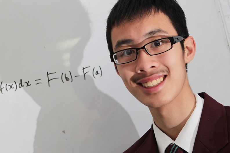 Parkwood's Jeffrey Wong beat all other WA students his age in an international mathematics contest. Picture: Marcelo Palacios www.communitypix.com.au d426747