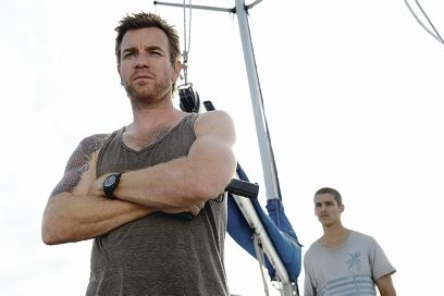 Ewan McGregor and Brenton Thwaites in the movie Son of a Gun, which was filmed in WA