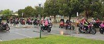 Riders brighten the gloom