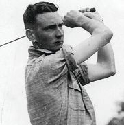 Golfer Dan Cullen at the 1938 WA Open.
