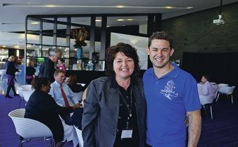 Louise Towler (Melville Cockburn Chamber of Commerce) with Phil Britten (WA Institute of Martial Arts-Motivational Speaker).