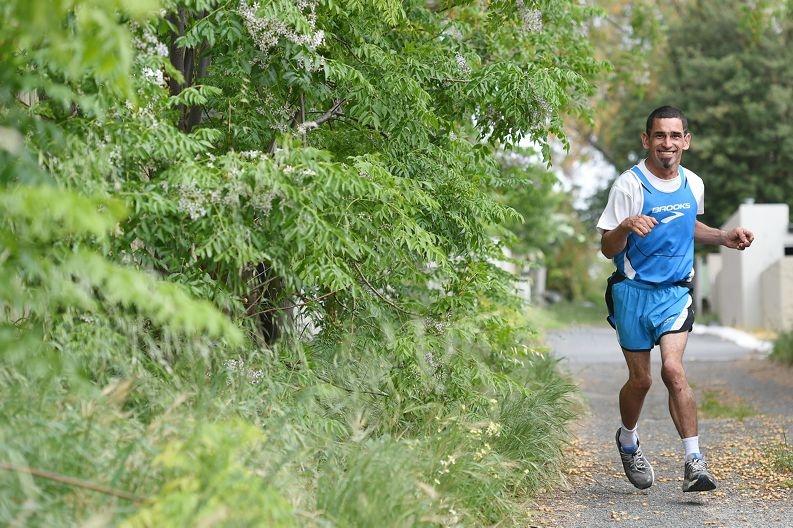 Marathon runner and cerebral palsy sufferer Daryl Howe [NAMES OK]