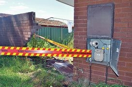Another car versus house crash in Yangebup – this time a car slammed into a wall.