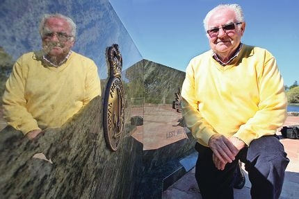 Alan Rodgers at the new memorial. Picture: Bruce Hunt www.communitypix.com.au d426946