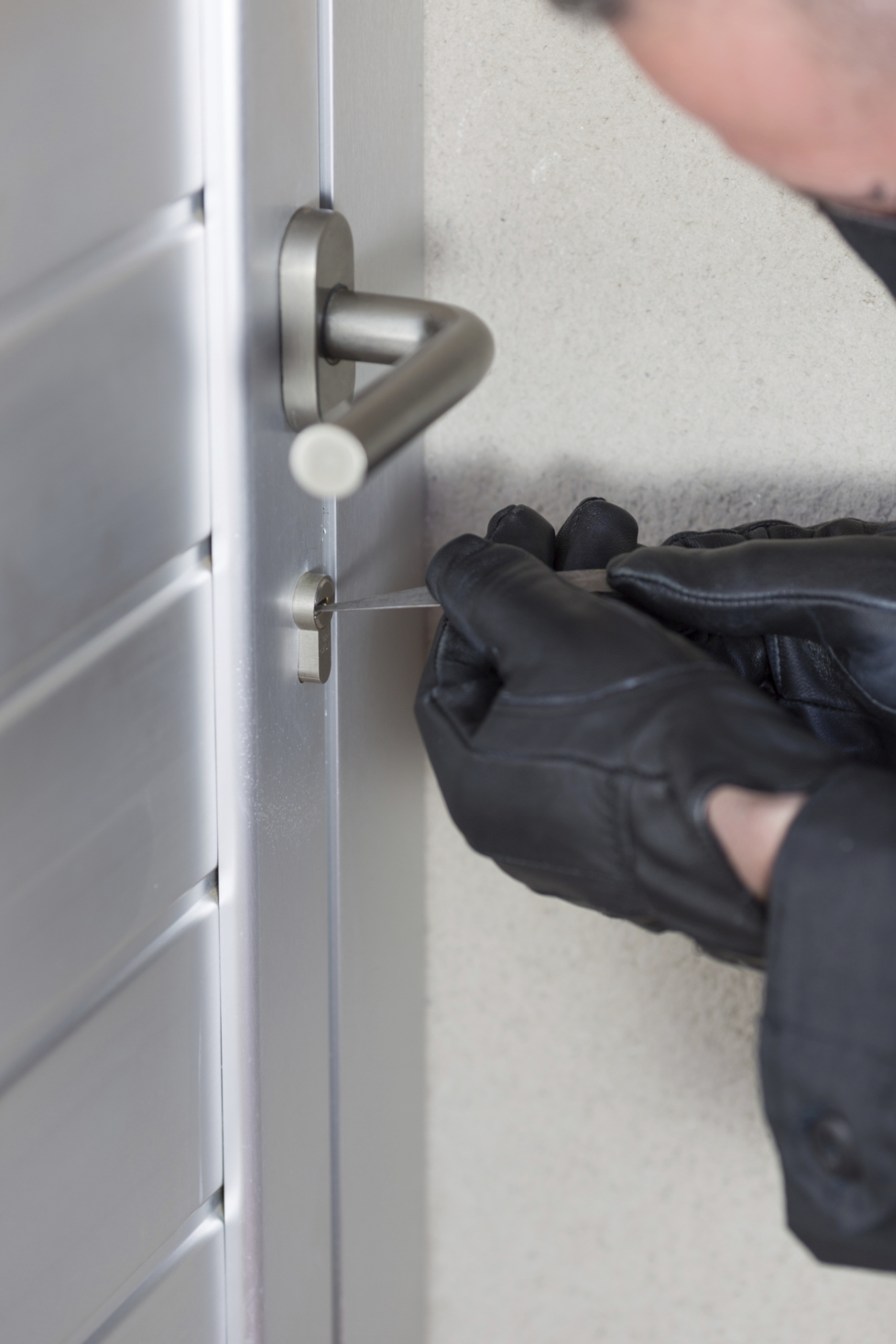 Burglars broke into flats recently.
