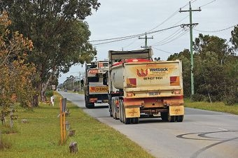 Residents are upset over the number of trucks passing through their suburb. d426603