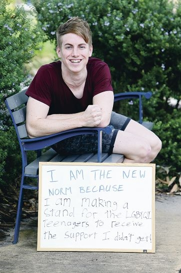 Brett Hatfield is launching a program for LGBTQI awareness in schools. |Picture: Emma Goodwin d426980
