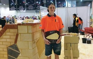 Nicholas Coci at the WorldSkills Australia competition.