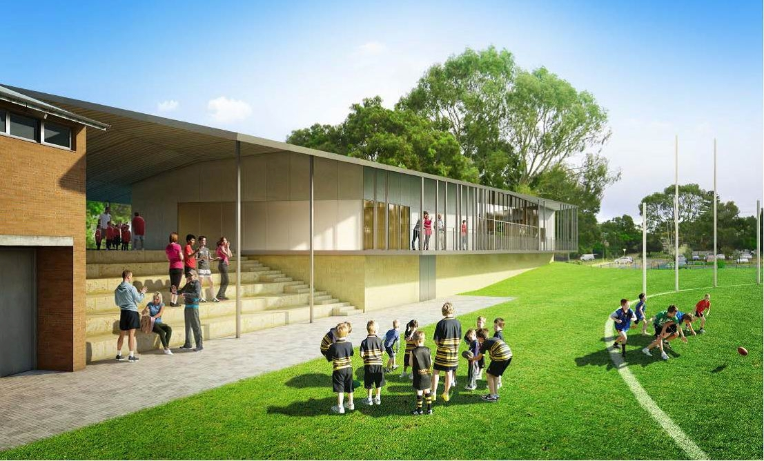 An artists impression of the new pavilion.