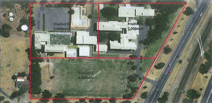 The WA Deaf School's site has been divided into three.