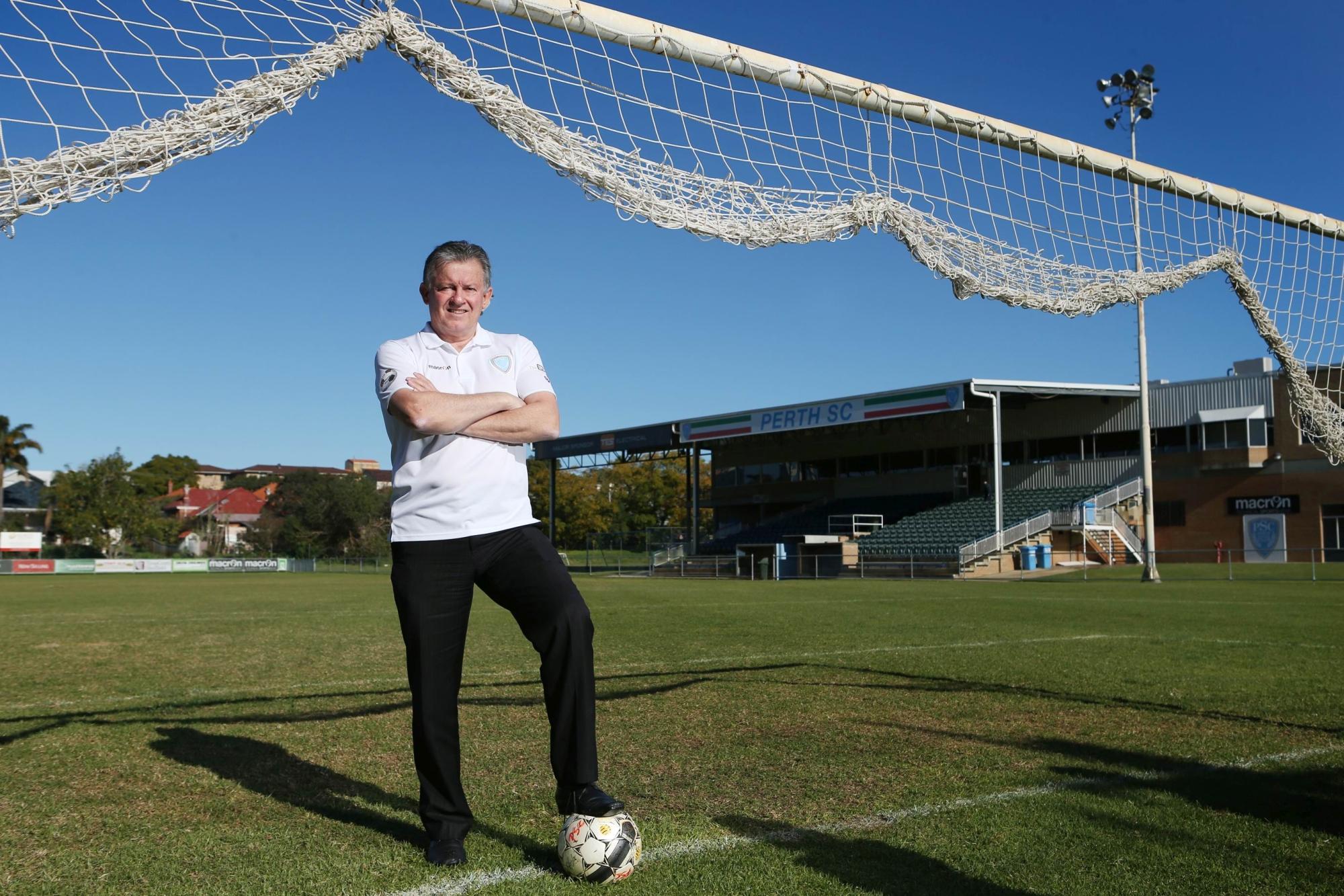 Perth Soccer Club president Gary Marocchi.