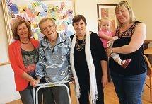 Desley Hiller, Graeme and Jennie Abbott, and Eleanor and Jane Yeates. Picture: Matt Jelonek www.communitypix.com.au d426146