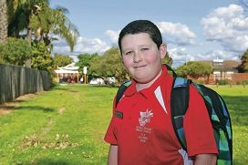 Gibbs Street Primary School student Ethan Binns. Picture: Martin Kennealey d426400