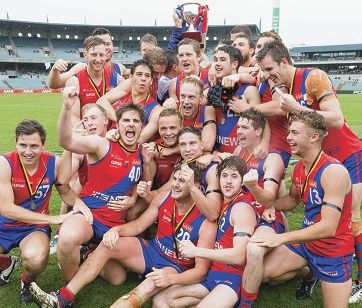 West Perth reserves celebrate their grand final win. Picture: Dan White