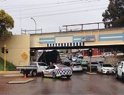 A recent incident of a truck stuck under the Bayswater bridge in August.