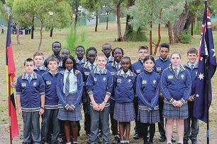 Current Year 7 students from Emmanuel at their new school site in Casserley Park.