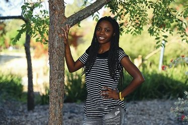 Angele Ntirampeba is organising a fundraiser to support refugees in camps across Burundi.Picture: Marcus Whisson www.communitypix.com.au d426121