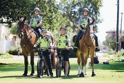 Police will be out in force to tackle an increase in burglaries in West Perth. Picture: Andrew Ritchie www.communitypix.com.au d426276