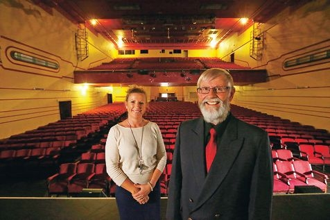 Regal Theatre manager Kim Knight and the theatre's Foundation chairman Richard Diggins. Picture: Andrew Ritchie d426397