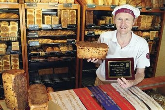 Bakers Delight Kingsley owner Matthew Harvey. Picture: Emma Goodwin d426278