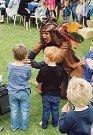 Pirate Michael Speranza entertains children.