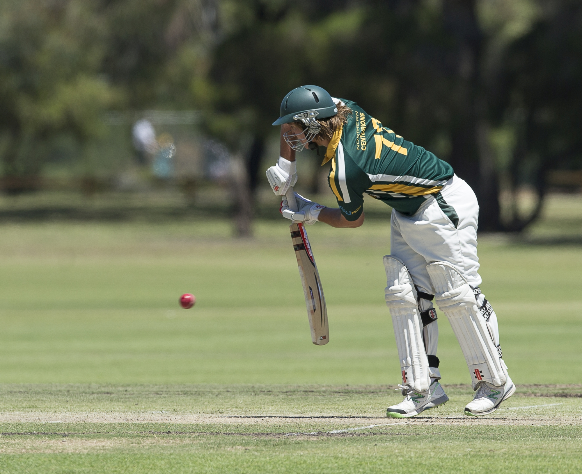 Promising Joondalup batsman Clint Hinchliffe in action. Picture: Dan White