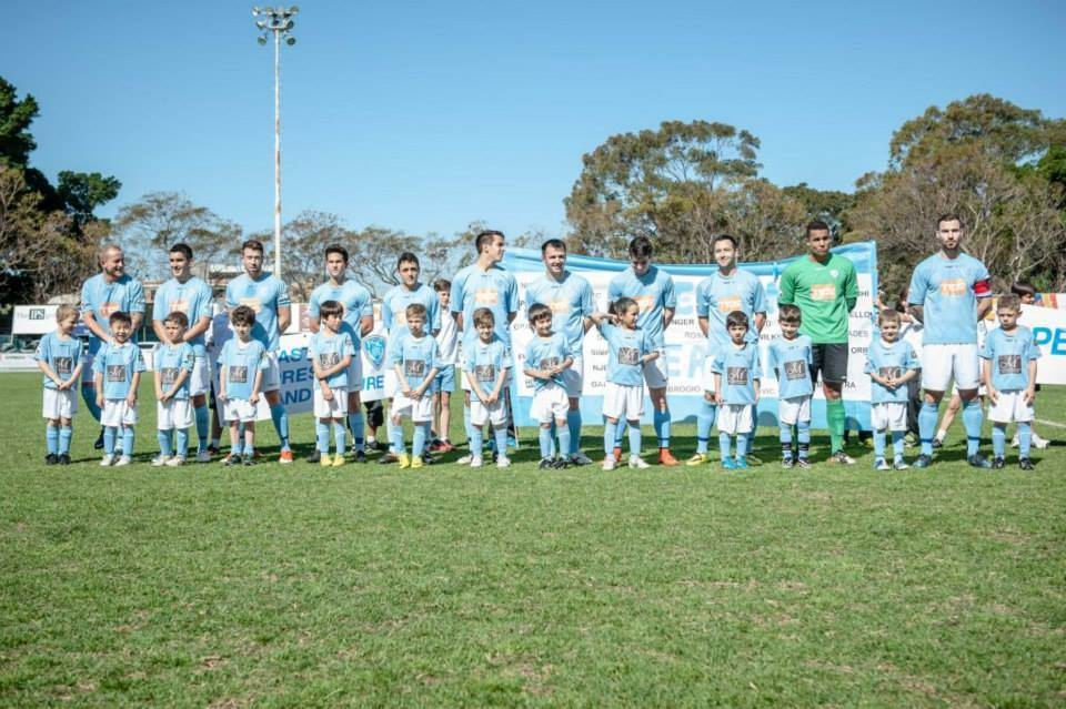 Perth Soccer Club line up before the National Premier League grand final last weekend.