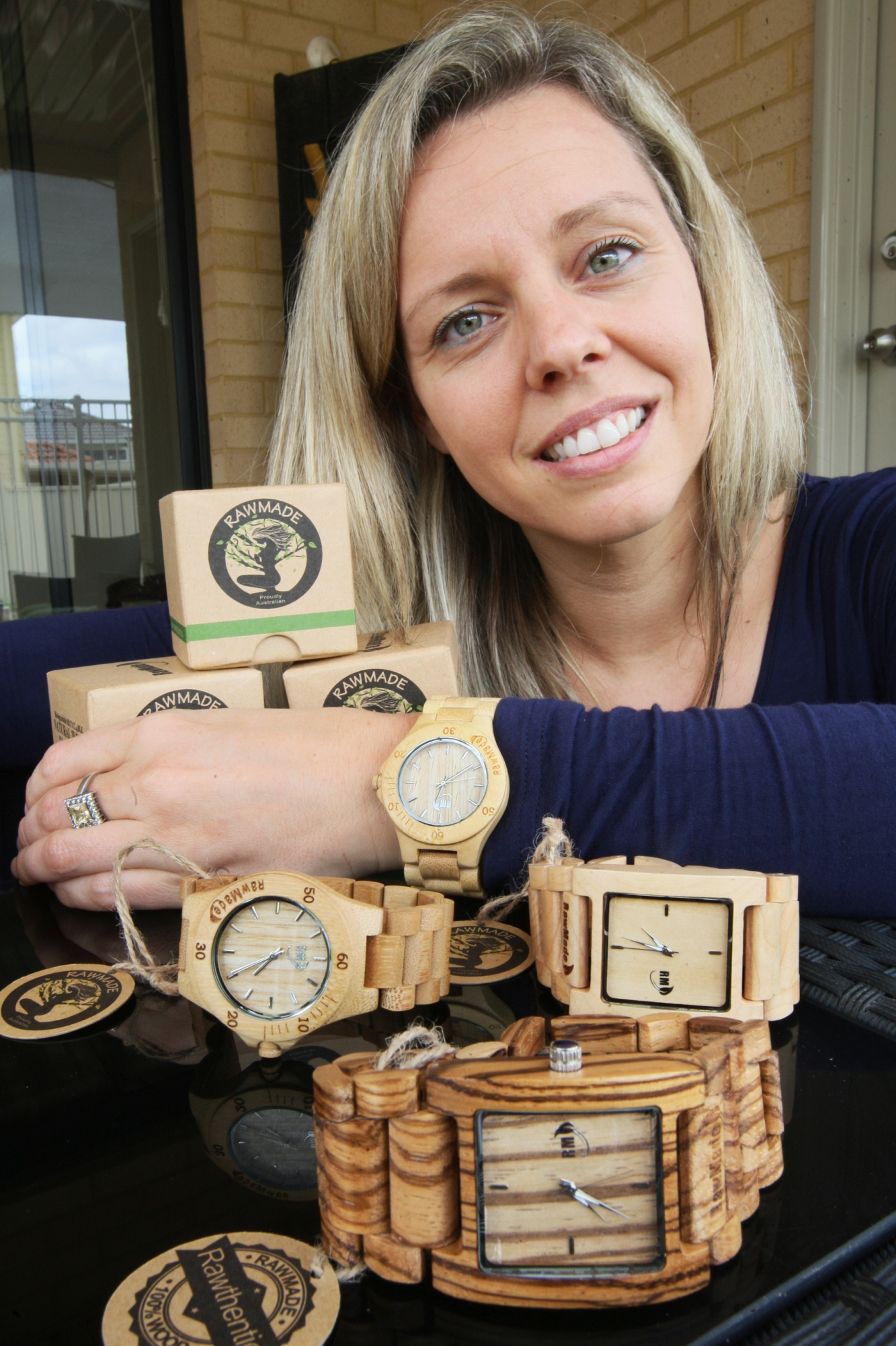 Natasja Kleinman with some of her watches. Picture: Bruce Hunt d426001