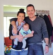 Sheree and Peter Yorke with their son Nicholas.