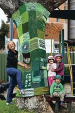 Organikids Childcare Centre's Beth Rice with Emily Dewsnap, Luke Anderson and Charlotte Street.