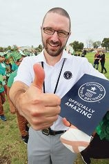 Guinness World Records official Chris Sheedy in Ellenbrook. Picture: Bruce Hunt