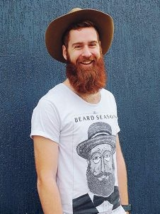 Bearded Wolf forward Sean Easther is preparing to shave for the WA Cancer Council.