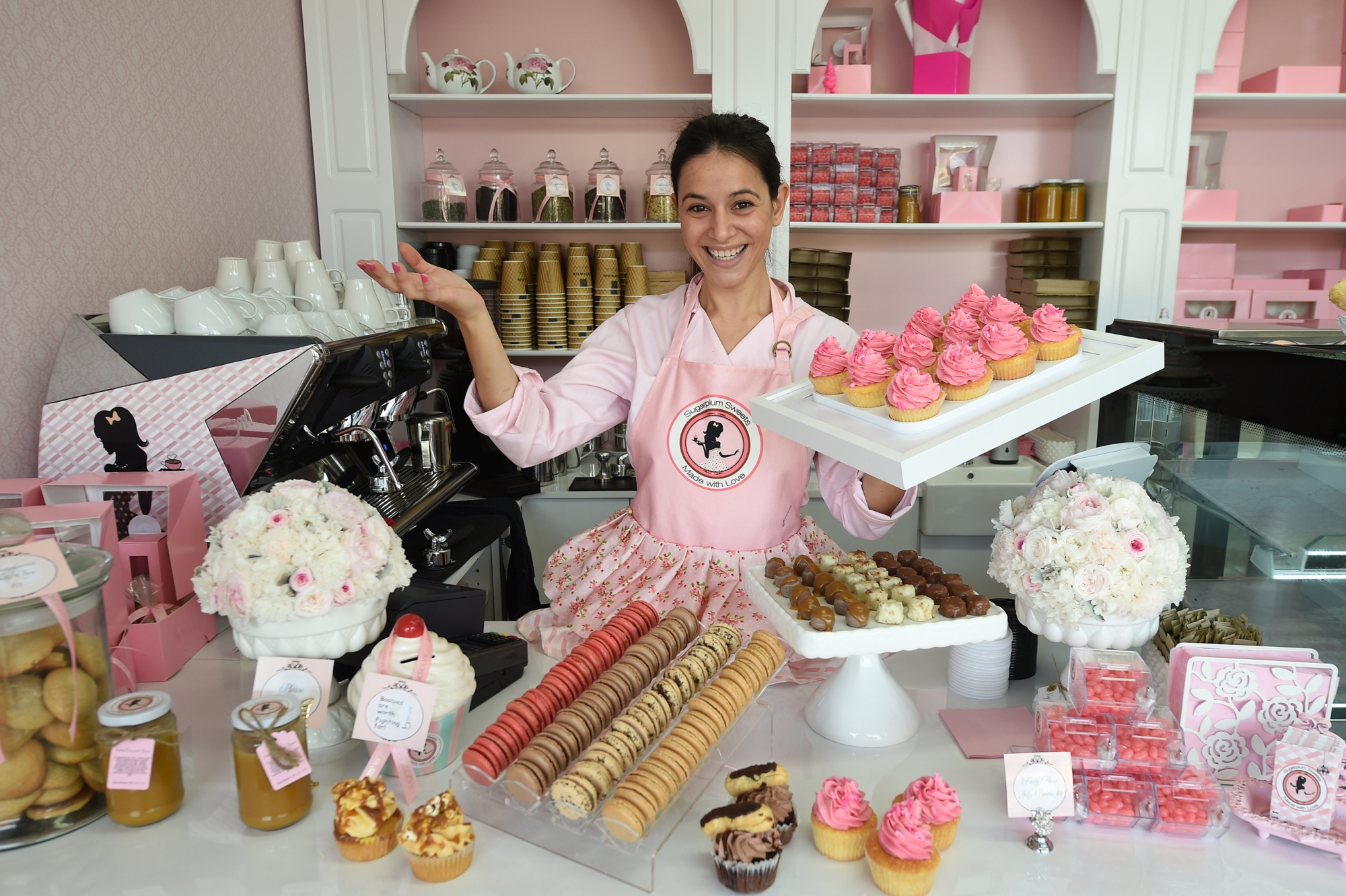 Sugarplum Sweets owner Flavia Harris.