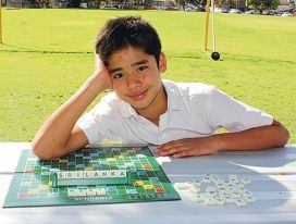 Young scrabble whiz proves he's got a way with words