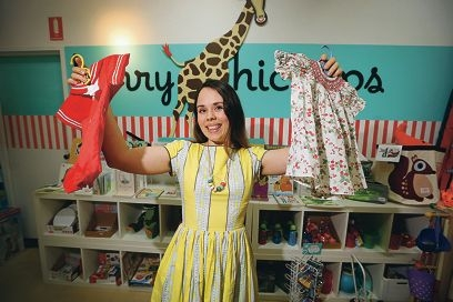 Helen Singer has launched a new online store selling quality vintage children's clothes. Picture: Andrew Ritchied425609