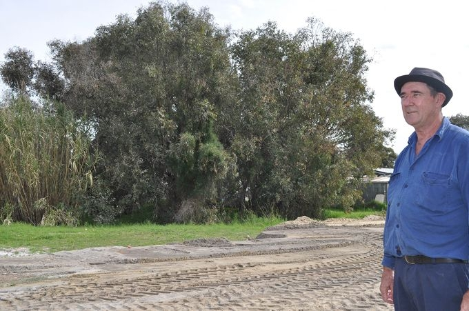 Worry for bush at men's shed site
