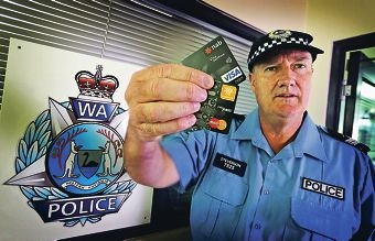 Senior Constable Rob Stevenson of the South East Metropolitan Community Engagement Unit. Paypass fraud is increasing.