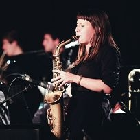 Alana Macpherson from the WA Youth Jazz Orchestra Quintet.