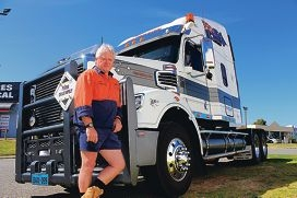 Truck driver Brendan Smith wants drivers to be more aware of trucks on the road.