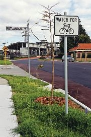 Cyclists use this area.  Rutland Avenue in Lathlain, between the Vic Park train station and Great Eastern Highway.  The council has been studying the area to install traffic management since May.