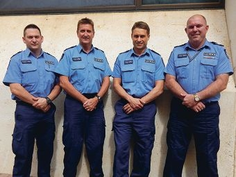Fremantle's team leaders (from left) Sergeant Brad Cooper (Team 2), Sergeant Dave Eaton (Team 3), Sergeant Paul Gelmi (Team 4) and Sergeant Paul Daly (Team 5).