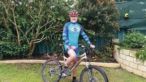 Peter Campbell ready to ride for Muscular Dystrophy WA.
